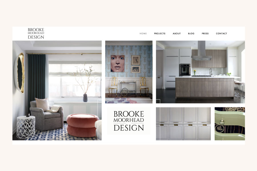 Website design for Brooke Moorhead