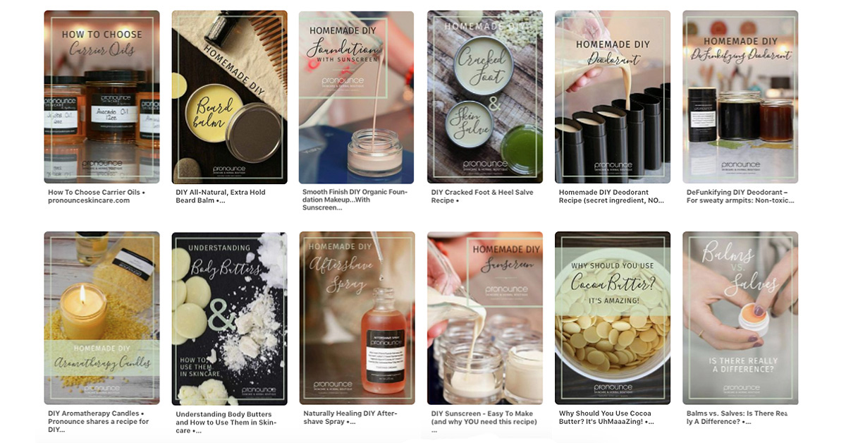 Custom products page for Pronounce Skincare