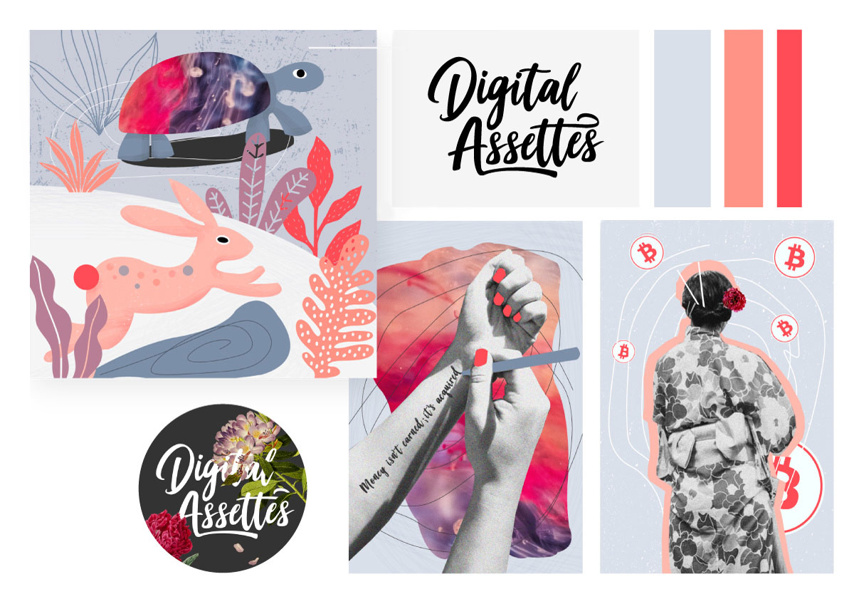 Complete branding and custom graphics for Digital Assettes