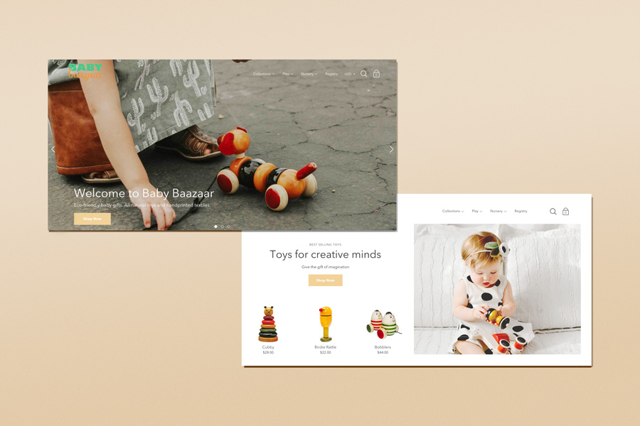 Shopify Web Design for Baby Bazaar