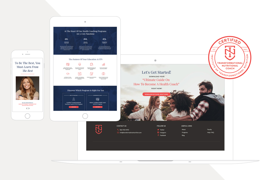 WordPress Themeco Pro Web Design for Institute of Transformational Nutrition