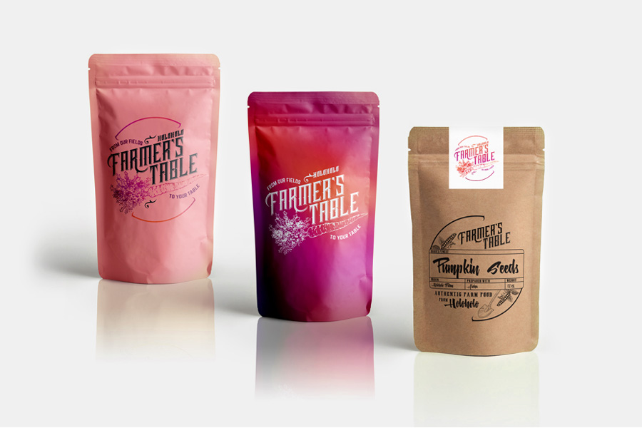 Package design Branding for Farmer's Table