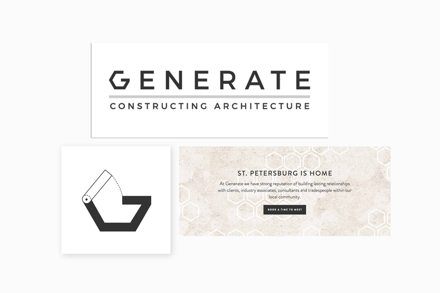 Architecture custom branding business cards for Generate Architecture