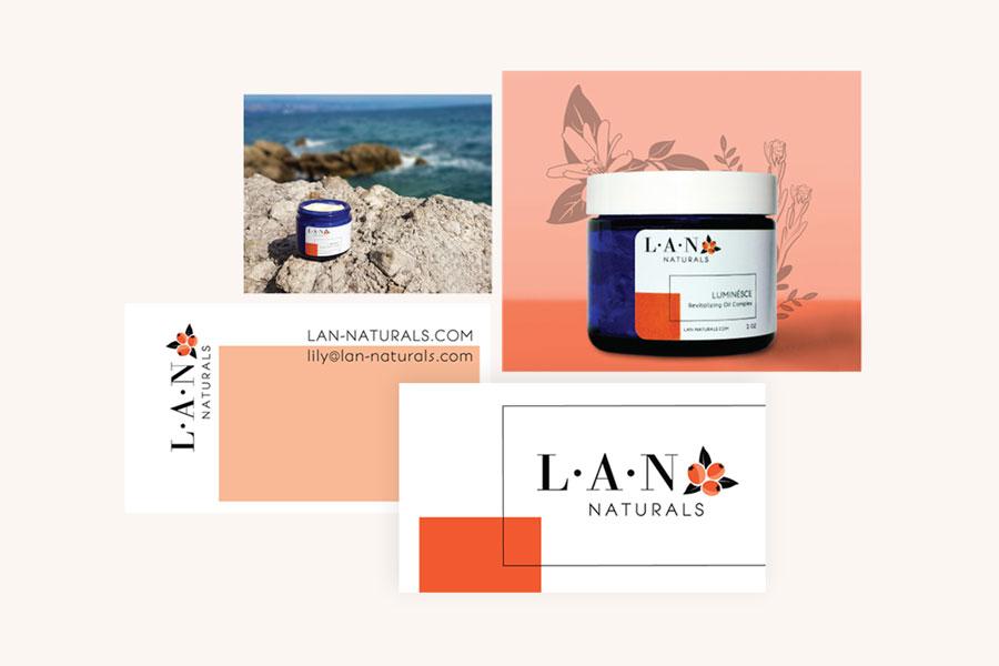 Initial Branding Design Examples for LAN Naturals