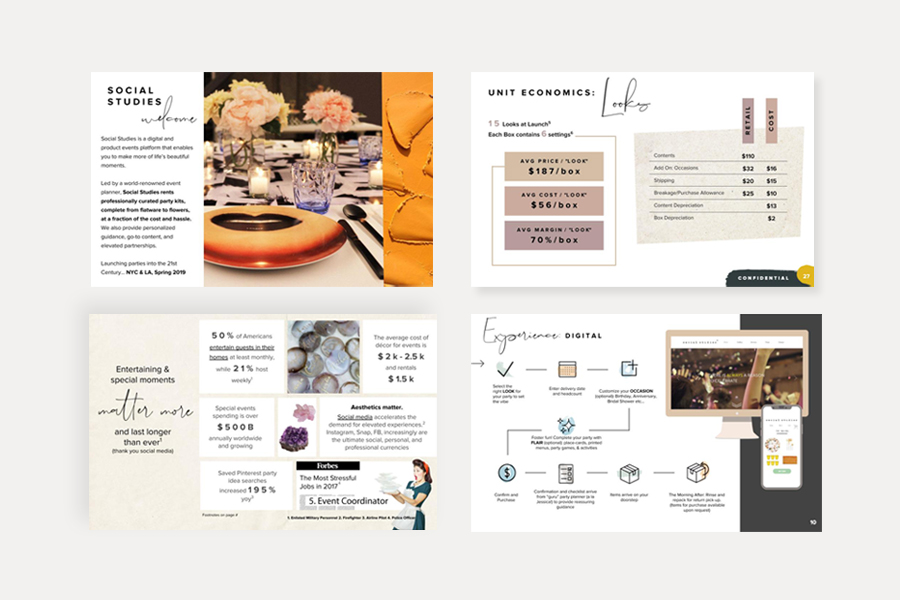 Investor Pitch Deck Graphic Design Social Studies