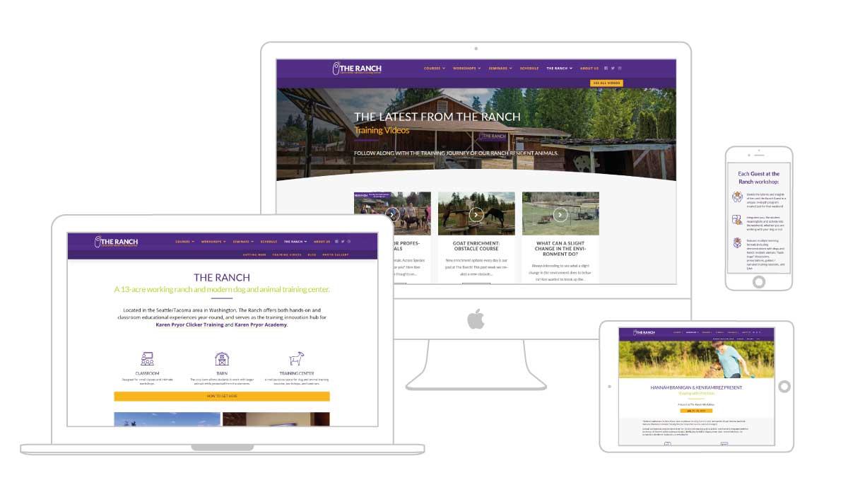 Multi platform web design for The Ranch