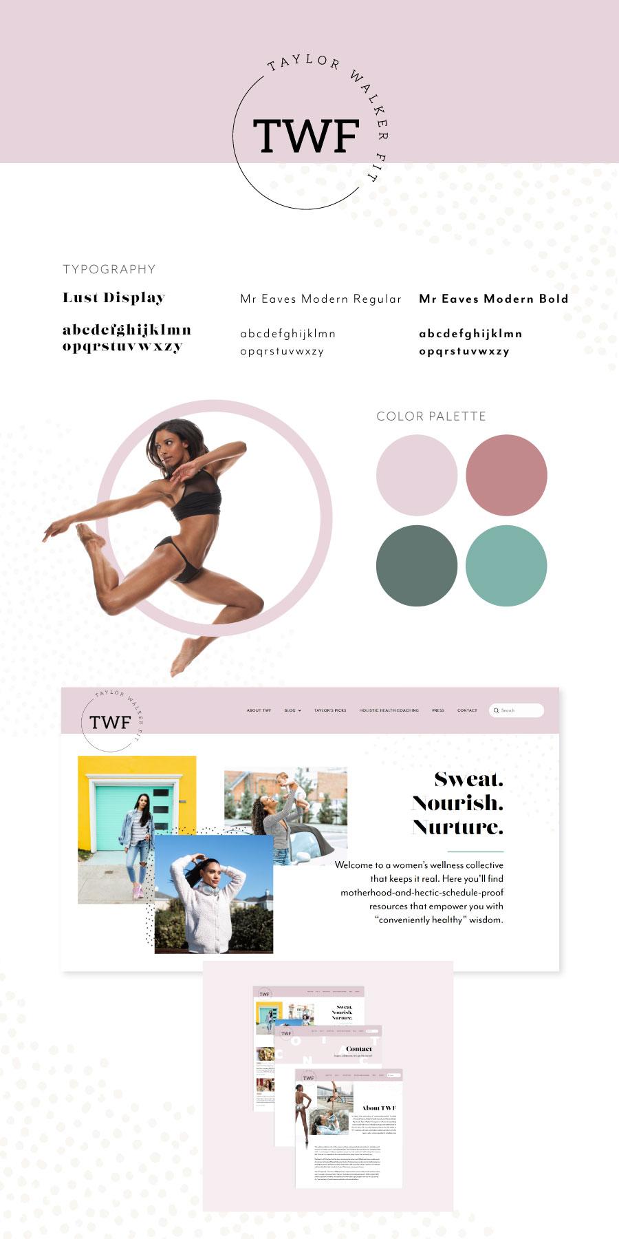 Branding for Fitness and Nutrition Online Platform